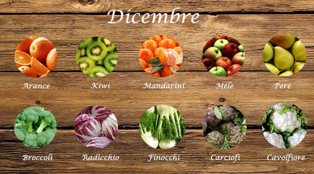 frutta e verdura di stagione dicembre